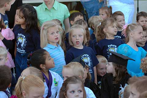 Many of our preschoolers, dancers and karate students attended the event.